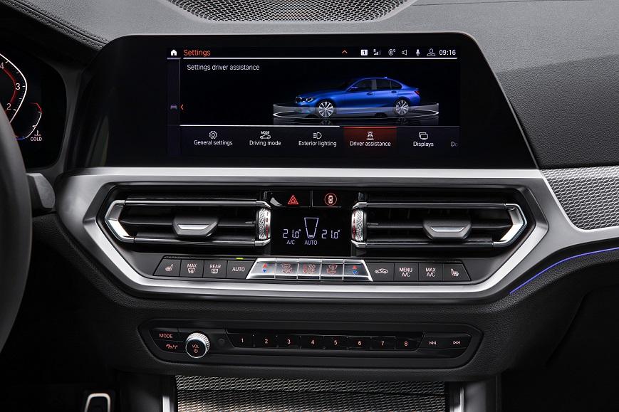 BMW radu 3 interiér detail