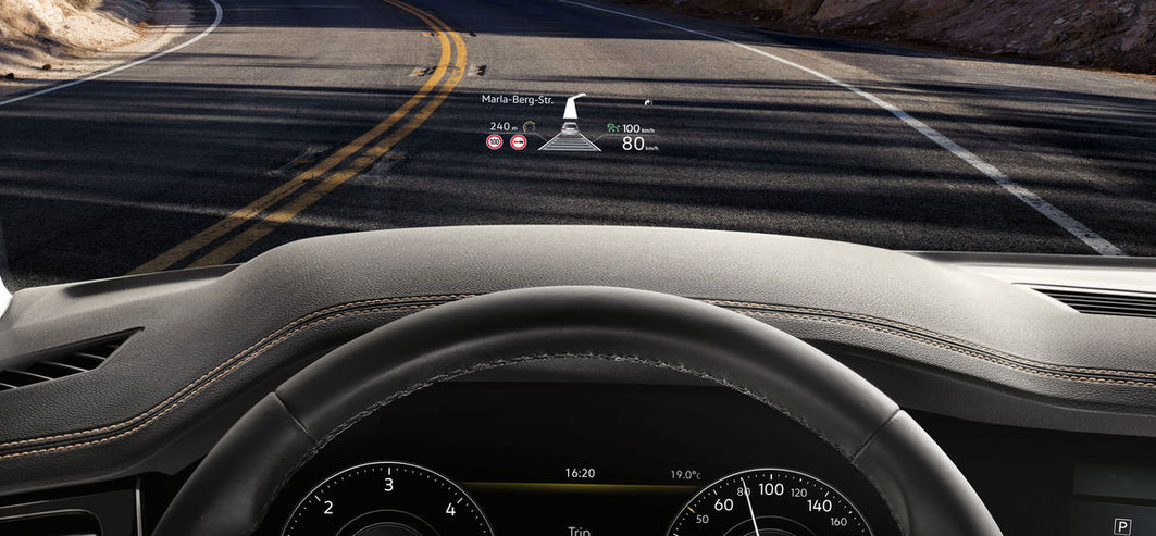 Volkswagen Touareg 2018 Test head-up
