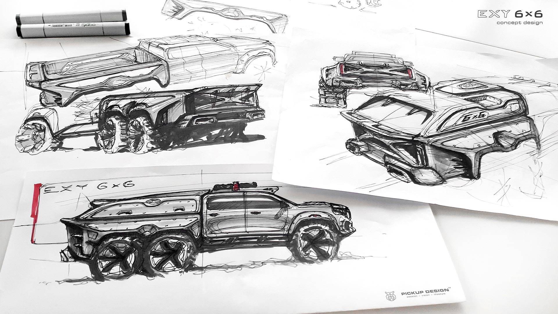 mercedes benz x class 6x6 by carlex design