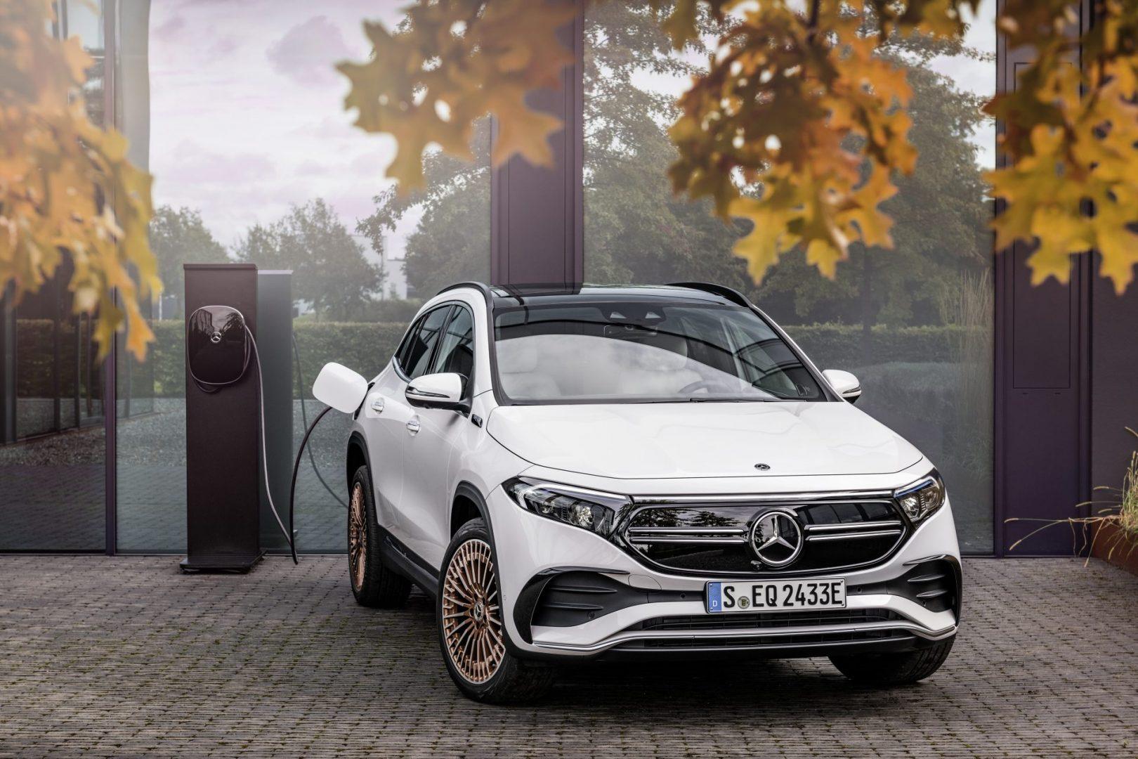 Mercedes EQA nabíjanie